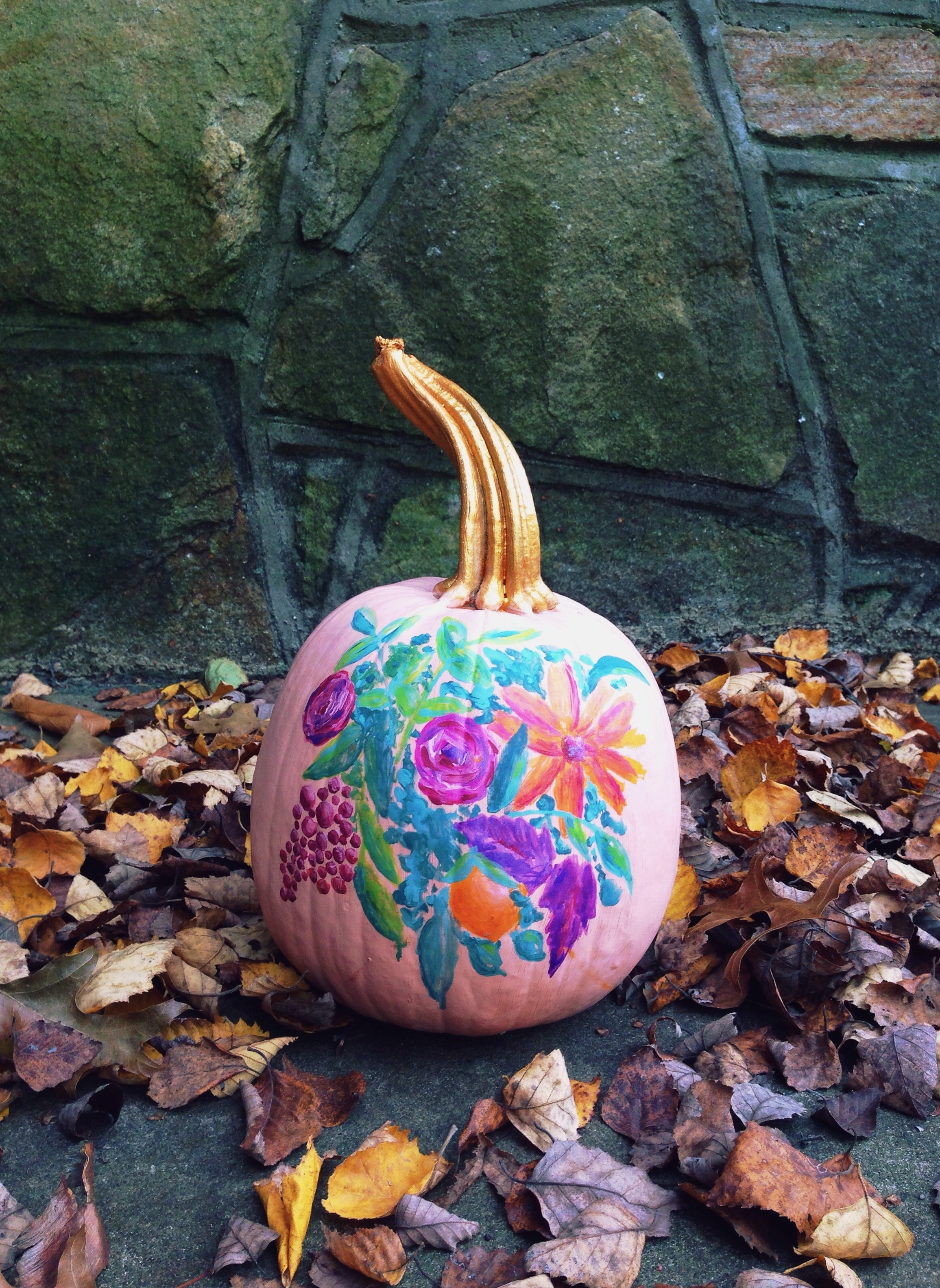 Creative and fun painted pumpkin ideas the little lam art Flower painted pumpkins